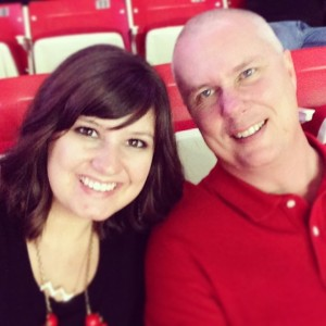 Dad and I at a basketball game last month. We won!