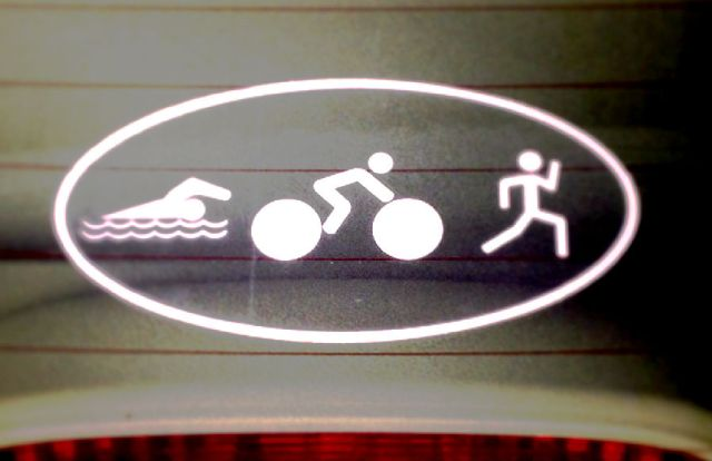 triathlon car decal