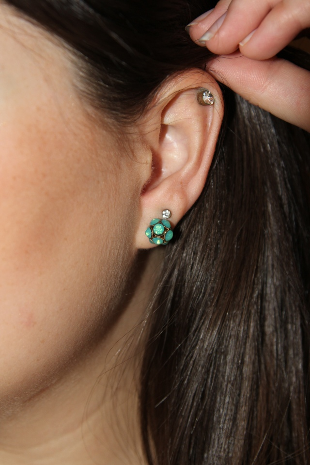 Earings: Smaller ones are always the cheap card packs from Claire's!|Bottom ones were a Christmas gift from my sister.