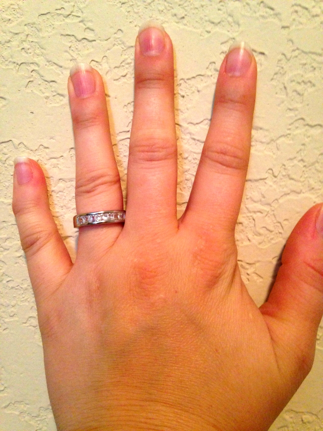 I just had to show this off because of how ridiculous it is. I am at that phase of pregnancy where, lest I have my ring cut off in the near future, I just need to take it off until post-Grady. I got this at Walmart for ( bucks and called it a day. STILL MARRIED, MAN.