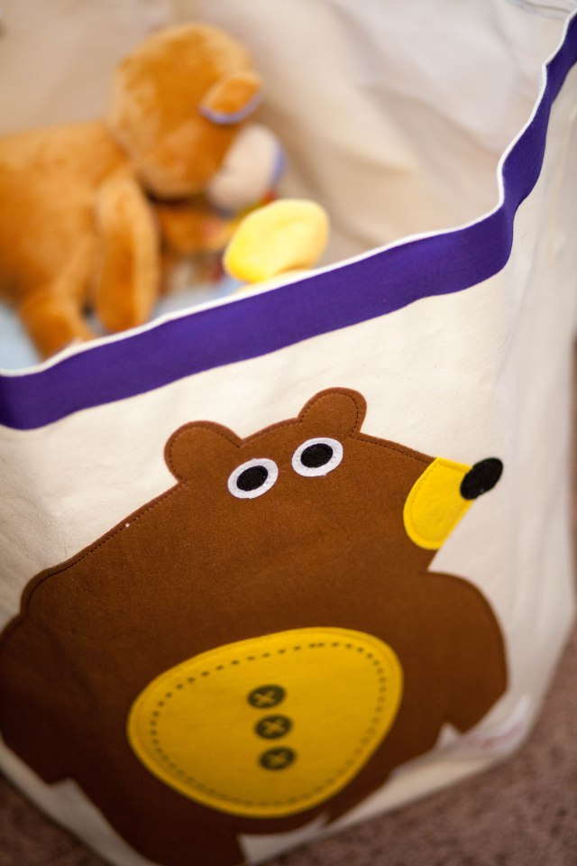 What even is the point of a toy bin without a bear on it? Says my husband. #BearsForLife